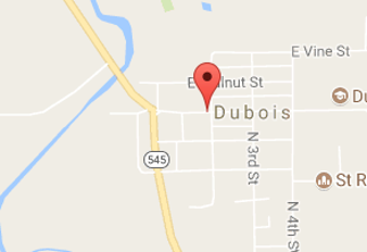 Map of dubois county